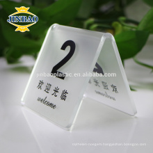 Jinbao table display hotel restaurant menu 1/2 A4 Acrylic holder