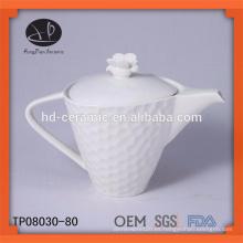 Nuevo producto para 2015 tetera de cerámica, tetera de porcelana blanca