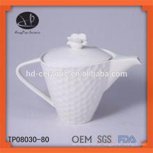 Novo produto para 2015 bule de cerâmica, bule de porcelana branca