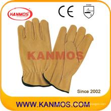 Промышленная безопасность Корова зерна кожи водителя рабочих перчаток (12201)