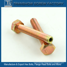 Yellow Zinc Plated Hex Head Bolt Nut