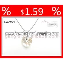 Colar de jóias de prata de cristal 2013