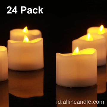 24 Pack LED Flameless Flickering Tea Lights Lilin