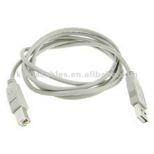 1.8M Gris USB 2.0 Macho A a B Cable de impresora Cable para PC