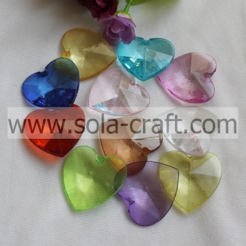 14X40X40MM Clear Colors Yiwu Heart Beads Wholesale
