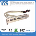 4 Ports USB2.0 to USB3.0 Bracket Cable 20 pin USB hub
