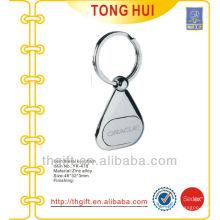 Shinny Nickel Platte Laser Logo Schlüsselanhänger Metall leer