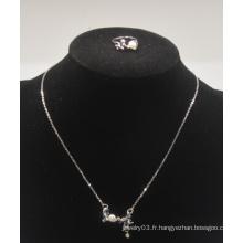 """Collier """"Love"""" avec diamant et bague sertie de la Saint-Valentin (XJW13557)"""