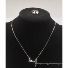 "Valentine′s Day ""Love"" with Diamond Necklace with Ring Set (XJW13557)"