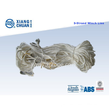3-Strand Polypropylene Winch Rope with Galvanized Thimble