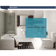 Baignoire à douche acrylique avec baignoire inclinée acrylique avec marches pour savon