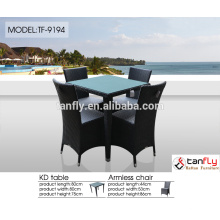 hot sell cube 8-seater rattan dining table garden furniture