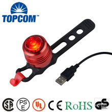 Aluminum Alloy MINI Bicycle Tail Seatpost USB Rechargeable Bike Light