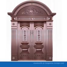 Porta de arco superior duplo do ferro de porta exterior de casa