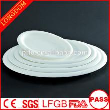 P & T porcelaine usine restaurant durable hôtel assiettes porcelaine vaisselle ovale