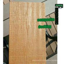 Decking stratifié en bois en bois stratifié extérieur de Co-Extrusion WPC Decking