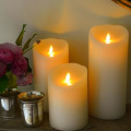 Realistic LED Moving Wick Flame Candle with Timer