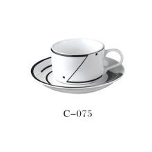 Cerâmico, café, copo, decalque