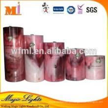 Vela de cera perfumada de pilar personalizada com tamanho grande