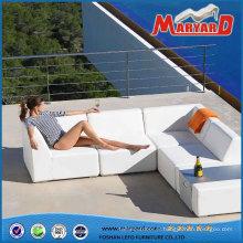 Sofa de jardin mobilier en cuir moderne blanc cuir d'unité CENTRALE