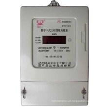 Trifásico Multi Tariff Smart Card Prepago Medidor Elétrico