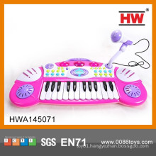 Educational Musical Instrument Toy Kids Pink Piano Electronic Organ