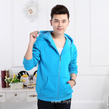 Autumn and winter heat transfer couple zip hoodie