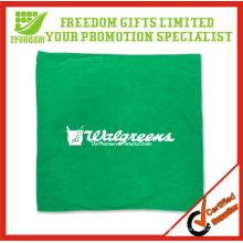 Green Colored Customized Logo Dog Bandana