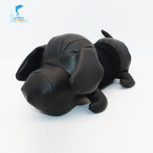 Cute black big head dog plush stuffed toys