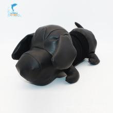 Bonito preto grande cabeça cachorro brinquedos de pelúcia