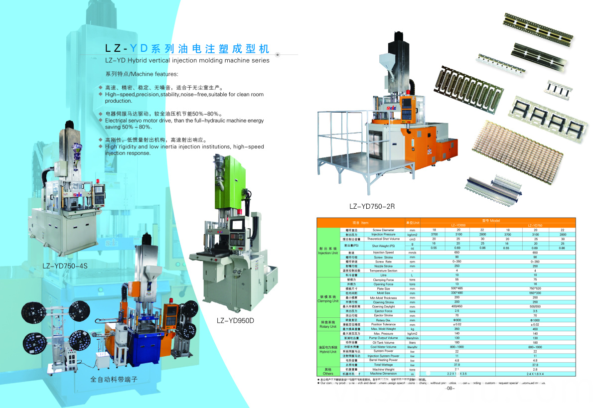 Hybrid vertical injection molding machine