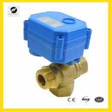 """3 Way brass Electric solenoid control Valve for chilled water 1/4"""" 1/2"""" 3/4"""" 1"""" low voltage control"""