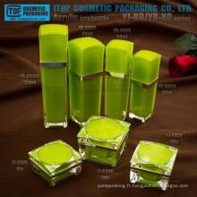 Intéressant de grande classe double couches qualité stricte inspection donc coûte efficace de luxe contenant en plastique acrylique cosmétiques