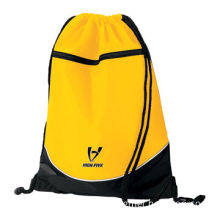 """Promotional Drawstring Bag, Made of 100% 210 Nylon, with PU Coated, 14 x 18"""", Portable/Eco-friendly"""