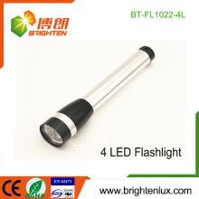 Vente en vrac en vrac 2 * AA batterie sèche Matériels métalliques d'occasion Portable 4 led Lampes de poche bon marché