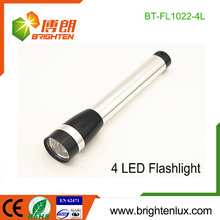 Factory Bulk Sale 2*AA dry battery Used Metal Material Portable 4 led Cheap Small Flashlights