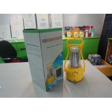 green source with high illumination lamp led lantern camping solar lantern usb charger