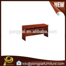 Reddish wooden table design for school