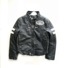 Fashionable Boy's PU Jacket, Suitable for Winter, Warm and Cozy