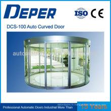 Porte coulissante en verre courbe en aluminium