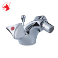 Promotion double handles copper toilet WC bidet faucet tap