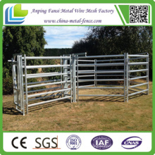 6 Barres Galvanized Square Pipe Portable Cattle Corral Panel