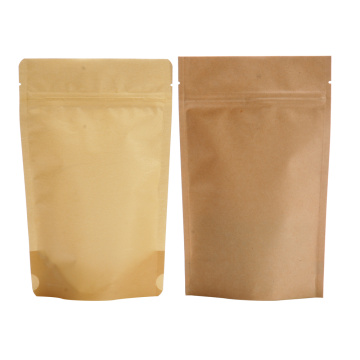 Brown Kraft Paper Stand Up Bags With Zipper