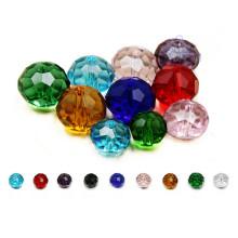 Дешевые красочные круглый Кристалл стекла бусины для DIY
