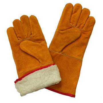 Boa Full Lining Safety Winter Warm Welding Cut Resistant Gloves