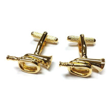 Trumpet Cufflinks Jazz Music Orchestra Band Symphony