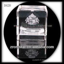 Architecture de subsurface laser 3D K9 à l'intérieur du cube de cristal