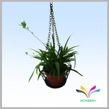 Metal outdoor plant flower display rack for hanging flower pot