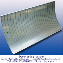 Stainless steel vee wire screen food processing dewatering screen