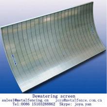 Stainless steel vee wire screen food processing dewatering screen